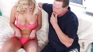 Hot teen Summer Day fucked by pervert stepdad on the couch