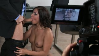 Voracious office slut Cipriana provides full service for her boss