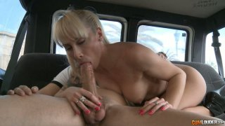 Big juicy shaft of a random guy tastes so good for this blonde milf