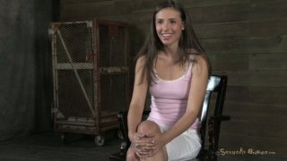 Sensual white cutie Casey Calvert facepumped and fucked hard