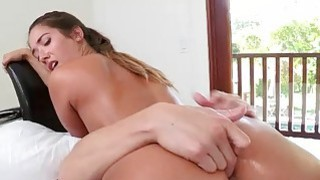 Pretty teen Eva Lovia nailed by big dick
