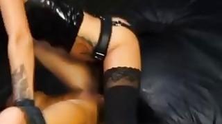 Strapon mistress destroys big booty slave Alexa Pierce