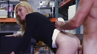 Blonde MILF fucked by pervert pawn dude