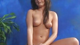 Masseuse disrobes to give chap a sexy massage act