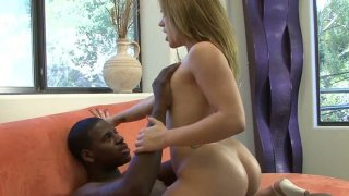 Spoiled girlie Kirra Lynne loves riding a black stiff dick