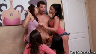 Dick starving babes Andy San Dimas, Ann Marie Rios, April ONeil, Kristina Rose