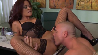 Kaylani Lei gets her asian pussy pounded at the office
