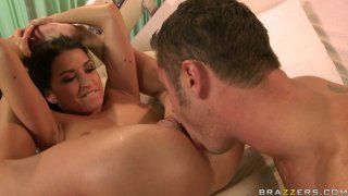 Flexible Ann Marie Rios gets her pussy polished by Danny Mountain and rides his dick